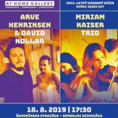 Arve Henriksen & David Kollar, Miriam Kaiser Trio